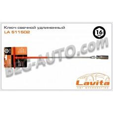 Ключ свечной 16мм (кардан) удлиненный Lavita