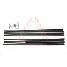 Уплотнитель низа стекла двери (реснички) ВАЗ 2101, 2102, 2103, 2106 Пластэк (к-кт 8шт)