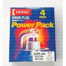 Свечи зажигания DENSO Q20PR-U (3007) [D12] ВАЗ 2110, 2111, 2112, 2113, 2114, 2115, Калина, Приора (16 клап.двиг.) к-кт 4шт