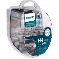Лампы галогеновые Philips X-treme Vision Pro +150% H4 12V 60/55W (12342XVPS2) (к-кт 2шт)