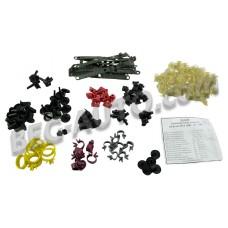 Набор пластмассовых изделий на кузов ВАЗ 2108, 2109, 21099 (к-кт 133ед)