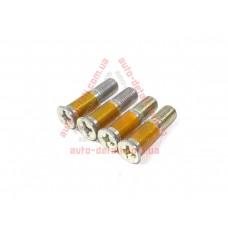 Болт замка двери бесшумный ВАЗ 2108, 2109, 21099, 2110-2115 (к-кт 4шт) дорогой (белый)