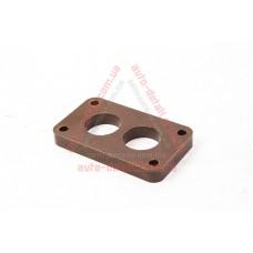 Прокладка под карбюратор Солекс теплоизолирующая ВАЗ 2108-2109 (текстолит) коричневая (13мм)
